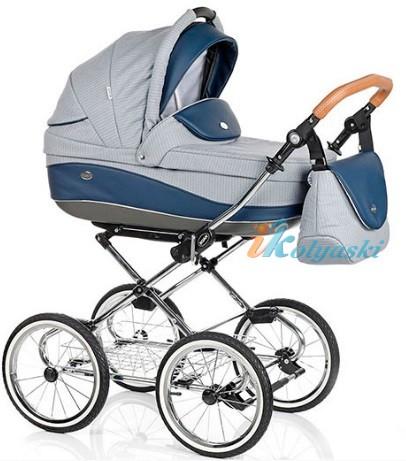 Детская коляска для новорожденных Roan Emma Chrome 2 в 1, Роан Эмма Хром на 14 дюймовых надувных колесах, коляски для новорожденных. коляски 2 в 1, коляска roan emma, коляска Roan Emma купить, модные коляски 2018, лучшие коляски 2018, самая модная коляска, цвет Е61