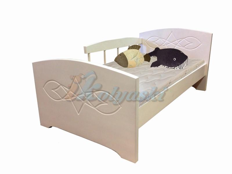 Детская кровать с бортиком Жанна от  2 лет, кровать от 3 лет из массива, размеры и цвета разные, ВМК-Шале... Детская кровать с бортиком Жанна от 3 лет из массива, детские кровати с бортиками, детская кровать с бортиком, детская кровать от 3 лет, детская кровать от 2 лет, кровати от 3 лет, кровать детская от 2 лет, купить кровать с бортиками, детская кровать
