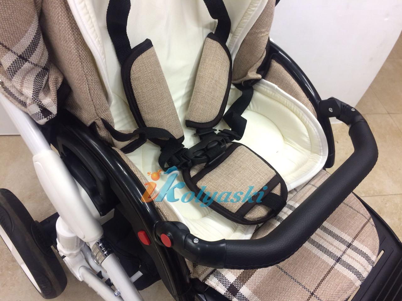 Little Trek Avenir фирменная, оригинальная, Детская спальная коляска для новорожденных два в одном 2 в 1 Литтл Трек Авенир. Бампер на прогулочном блоке фиксируется, снимается и регулируется, 7 положений по высоте