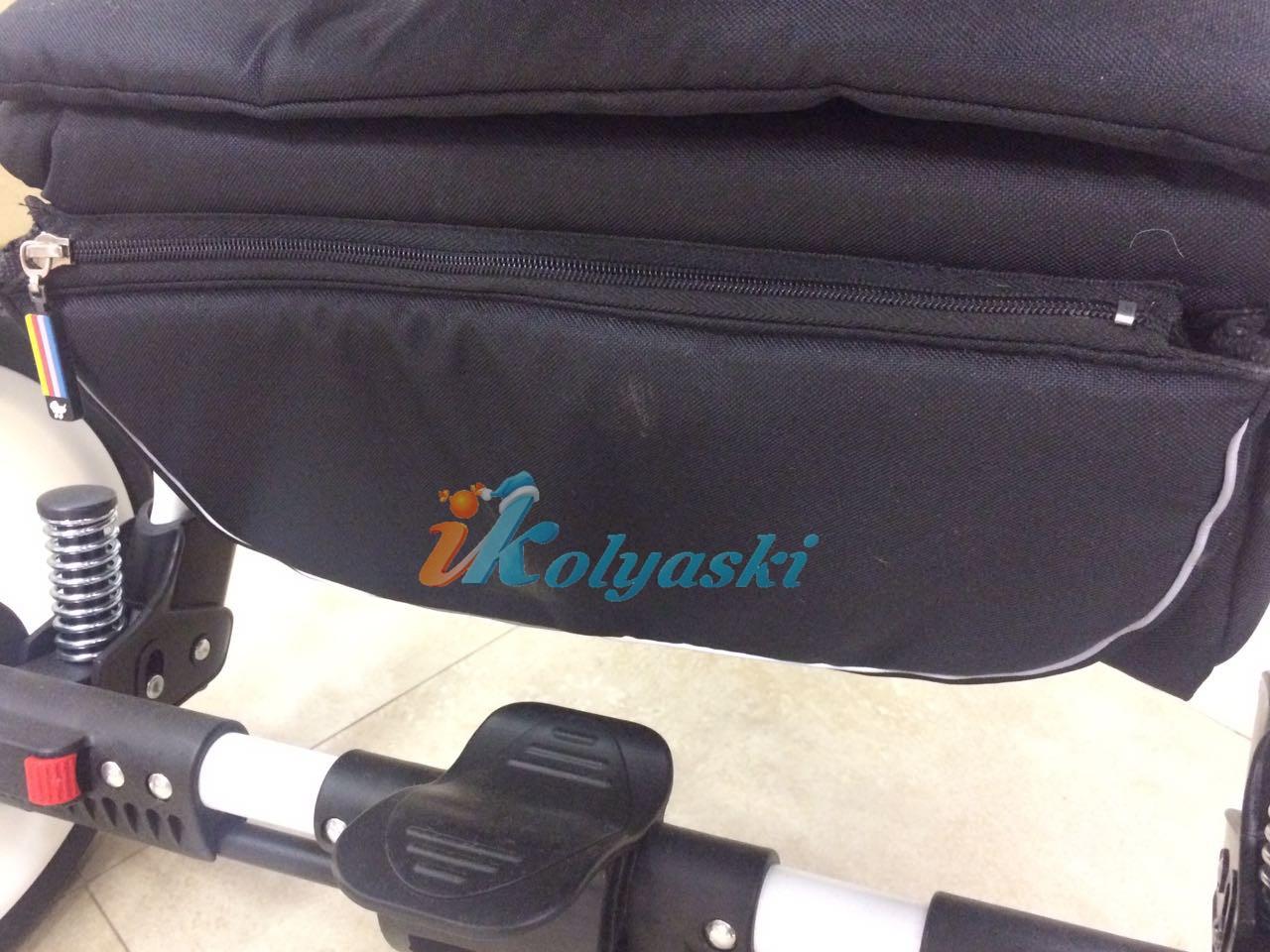 Little Trek Avenir фирменная, оригинальная, Детская спальная коляска для новорожденных два в одном 2 в 1 Литтл Трек Авенир. 4 нижних амортизатора - металлические пружины, дающие дополнительную мягкость коляске