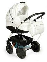 Детская универсальная коляска Slaro Indigo S, коляска 2 в 1, люлька из эко-кожи, шасси на передних поворотных колесах на 360º, колеса надувные, производство Польша. Модная коляска для новорожденных.