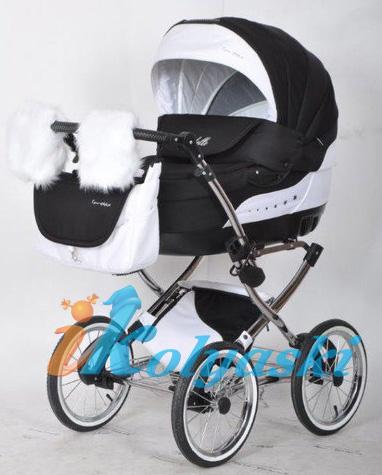коляска зима-лето, колпак с вшитой москитной сеткой для вентиляции в жаркие дни, колеса большого диаметра 36 см, металличекие диски, шины резиновые