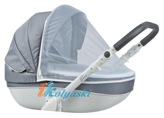 москитная сетка входит в комплект детской коляски для новорожденных Roan Bass Soft 3 в 1