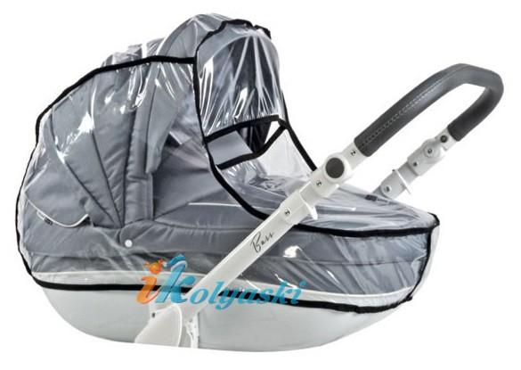 дождевик входит в комплект детской коляски для новорожденных Roan Bass Soft 3 в 1