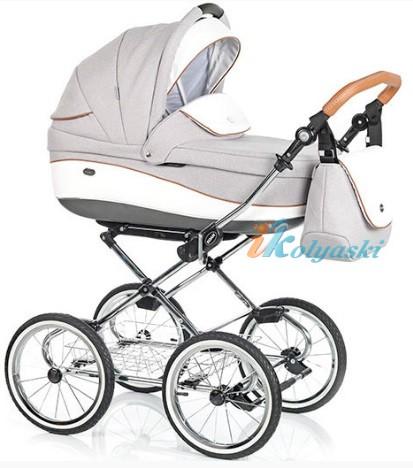 Детская коляска для новорожденных Roan Emma Chrome 2 в 1, Роан Эмма Хром на 14 дюймовых надувных колесах, коляски для новорожденных. коляски 2 в 1, коляска roan emma, коляска Roan Emma купить, модные коляски 2018, лучшие коляски 2018, самая модная коляска, цвет Е54