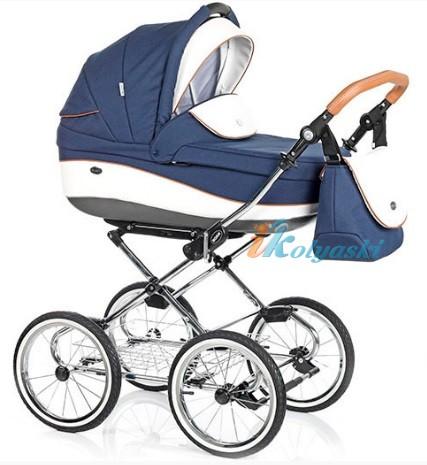 Детская коляска для новорожденных Roan Emma Chrome 2 в 1, Роан Эмма Хром на 14 дюймовых надувных колесах, коляски для новорожденных. коляски 2 в 1, коляска roan emma, коляска Roan Emma купить, модные коляски 2018, лучшие коляски 2018, самая модная коляска, цвет Е55