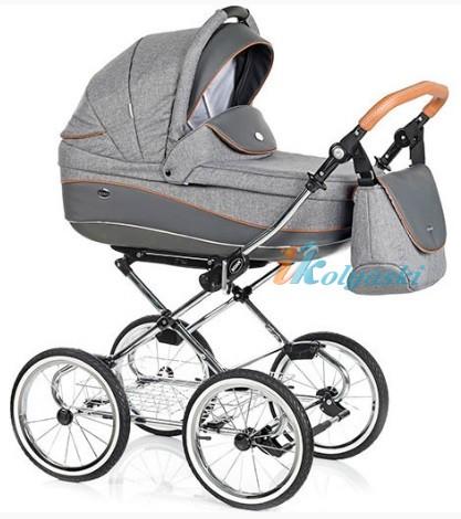 Детская коляска для новорожденных Roan Emma Chrome 2 в 1, Роан Эмма Хром на 14 дюймовых надувных колесах, коляски для новорожденных. коляски 2 в 1, коляска roan emma, коляска Roan Emma купить, модные коляски 2018, лучшие коляски 2018, самая модная коляска, цвет Е56