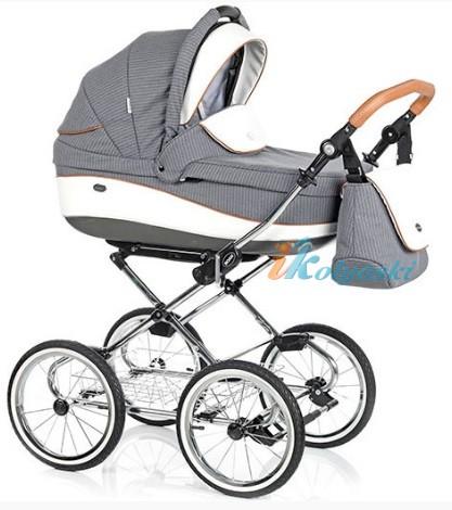 Детская коляска для новорожденных Roan Emma Chrome 2 в 1, Роан Эмма Хром на 14 дюймовых надувных колесах, коляски для новорожденных. коляски 2 в 1, коляска roan emma, коляска Roan Emma купить, модные коляски 2018, лучшие коляски 2018, самая модная коляска, цвет Е57