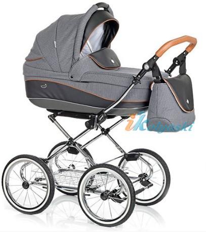 Детская коляска для новорожденных Roan Emma Chrome 2 в 1, Роан Эмма Хром на 14 дюймовых надувных колесах, коляски для новорожденных. коляски 2 в 1, коляска roan emma, коляска Roan Emma купить, модные коляски 2018, лучшие коляски 2018, самая модная коляска, цвет Е58