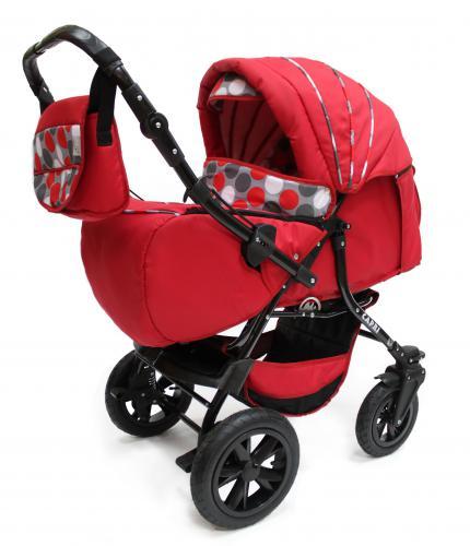 Коляска трансформер Сapri PCO на надувных поворотных колесах, с перекидной ручкой, производство Польша. Коляска-трансформер для детей от рождения до 3 лет. Коляска для новорожденных, которая легко трансформируется из спальной в прогулочную. Расцветки разные.