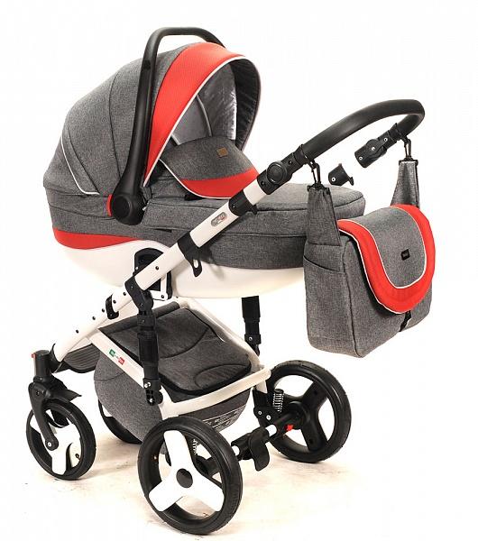 Модная детская модульная коляска для новорожденных 3 в 1 на поворотных колесах, с автокреслом группы 0+ Vikalex Tasso, Италия, цвет Linen Grey, артикул: 76184. Современный итальянский дизайн, сборка европейская. Надежная, красивая коляска 3 в 1 по доступной цене. Новинка. Коляска с автокреслом хороша для современных мобильных родителей, которые часто ездят в автомобиле и путешествуют с ребенком.