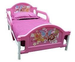 Наклейки Феи WINX на 2 спинки детских кроватей от года Тоддлер Джуниор, наклейки декоретто, наклейки Decoretto, как своими руками сделать красивую кровать для ребенка, детская кровать фото, красивая кровать для девочки