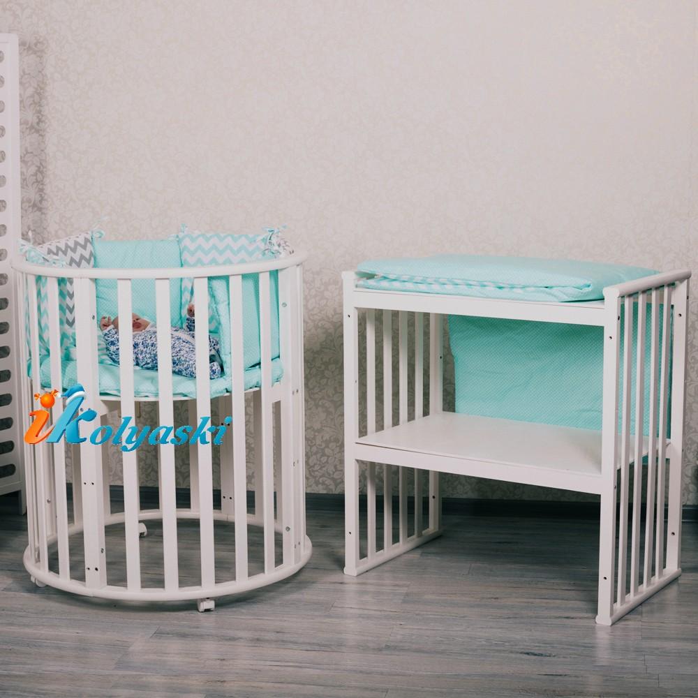кроватка для новорожденных, кроватки новинки, круглые кроватки, овальные кроватки для новорожденных, овальная кроватка массив. овальная кроватка трансформер, овальная кроватка купить, купить круглую кроватку для новорожденного,  круглая кроватка, цвет белый