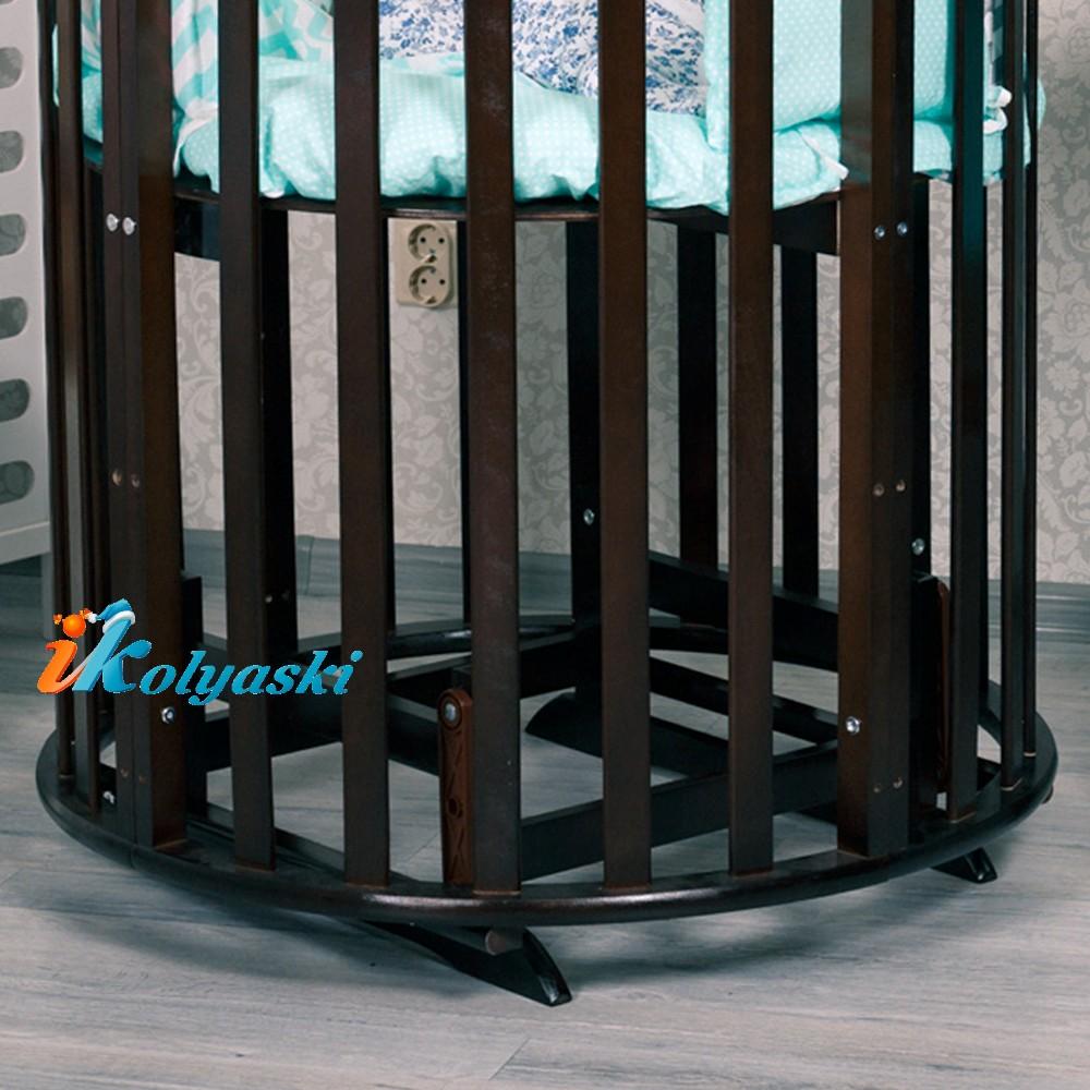 кроватка для новорожденных, кроватки новинки, круглые кроватки, овальные кроватки для новорожденных, овальная кроватка массив. овальная кроватка трансформер, овальная кроватка купить, купить круглую кроватку для новорожденного, белая круглая кроватка