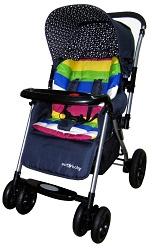 детская прогулочная коляска с перекидной ручкой Ecobaby Olympic Bamia