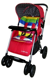 детская прогулочная коляска с перекидной ручкой Ecobaby Bamia