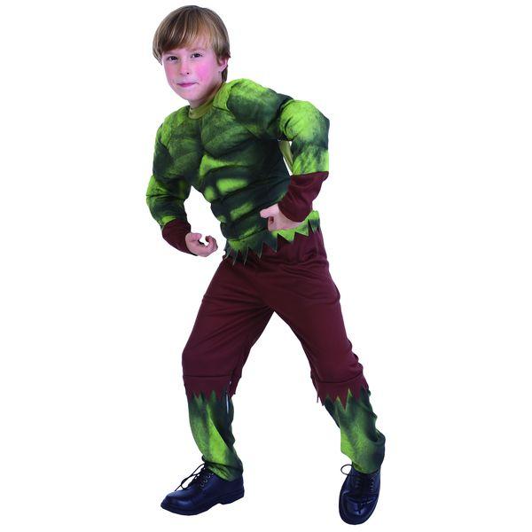 Костюм Халка, костюм бойца с мускулатурой, детский карнавальный костюм для мальчика на 7-10 лет, артикул Е94757-1, фирма Snowmen