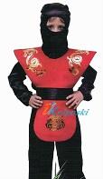 Детский карнавальный костюм кРАСНОГО ниндзя Скорпиона Мортал Комбат X, костюм красного Ниндзя - персонажа компьютерной игры Mortal Combat X, на 4-7 лет, рост 116-122 см