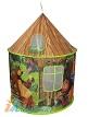 Красивый детский игровой домик Маша и Медведь,  детская игровая палатка с конусной крышей, высота домика 135 см