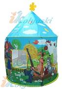 Привлекательный детский игровой домик с любимыми персонажами серии мультфильмов о Простоквашино.  Размер домика 104х135 см. Детский домик палатка предназначен для игр на открытом воздухе и внутри помещения. Ткань нейлон, из которой изготовлен этот домик, легко моется и быстро сохнет. Домик собирается из компактной упаковки быстро и легко на своем каркасе.