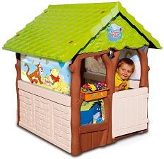 детский игровой пластиковый Домик Smoby Winnie - Винни, с колокольчиком, артикул 310145 , размер 127х112х109 см. Для детей от 2 лет.