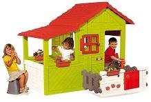 Детский игровой пластиковый Домик Садовода Smoby с летней верандой и звонком, артикул 310247, размер  160х109х148