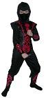 """Детский карнавальный костюм Ермака Мортал Комбат, костюм Красного Ниндзя Эрмака с огнем на доспехах - персонажа компьютерной игры """"Мортал комбат"""", на 11-14 лет, рост 130-140 см,  фирмы Snowmen артикул Е70821-3"""