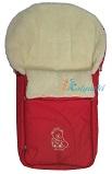 Зимний конверт для новорожденных Ecobaby - Экобейби, модель Baby Breeze Winter, конверт в коляску, увеличенного размера 94х50 см, БЕЗ ПРОРЕЗЕЙ, цвет КРАСНЫЙ