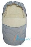 Зимний конверт для новорожденных на выписку Ecobaby - Экобейби, модель Baby Breeze Winter, конверт в коляску, увеличенного размера 94х50 см, БЕЗ ПРОРЕЗЕЙ, цвет СЕРЕБРИСТЫЙ
