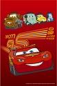 Плед детский флисовый мягкий, Тачки 2 на красном, Дисней, Disney Pixar  от 3 до 16 лет, размеры 205х140 см,  детские пледы для мальчиков с изображением любимого персонажа - Молнии Маккуин. Такой детский плед купить предлагает интернет магазин www.ikolyaski.ru