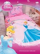 Пододеяльник 1,5 полуторный детский Золушка Дисней, Синдерелла Disney,  100% хлопок, бязь, размер 210х145 см, детское постельное белье, пододеяльник детский для девочки