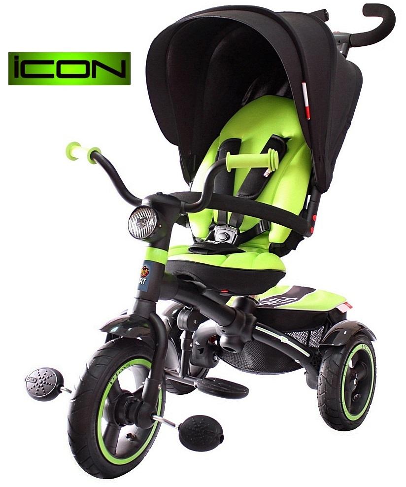 Детский трёхколесный велосипед Lexus trike ICON 5 RT, 3-х колесный велосипед-коляска VIP V5 by Natali Prigaro green 2016, детские трехколесные велосипеды, детский велосипед-коляска, купить детский велосипед, детский велосипед купить. детский велосипе