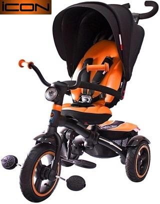 Детский трёхколесный велосипед Lexus trike ICON 5 RT, 3-х колесный велосипед-коляска VIP V5 by Natali Prigaro ORANGE 2016, детские трехколесные велосипеды, детский велосипед-коляска, купить детский велосипед, детский велосипед купить. детский велосипе