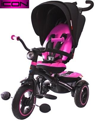 Детский трёхколесный велосипед Lexus trike ICON 5 RT, 3-х колесный велосипед-коляска VIP V5 by Natali Prigaro PINK 2016, детские трехколесные велосипеды, детский велосипед-коляска, купить детский велосипед, детский велосипед купить. детский велосипе