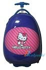 Детский чемодан на колесах Эгги Eggie, на светящихся LED колесах, Hello Kitty, Хэллоу Китти, размер 16