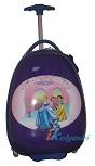 Детский чемодан на колесах Эгги Eggie, на светящихся LED колесах, Сказочные Принцессы, размер 16 дюймов. Новинка