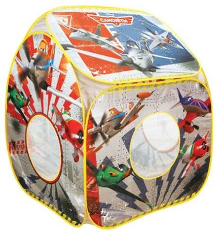 Детский игровой домик, игровая палатка с персонажами популярных мультфильмов Диснея про самолеты. Окна в игровом домике напоминают иллюминаторы самолета, они такие же круглые. Домик пошит из ткани нейлона, которая легко моется и быстро сохнет.