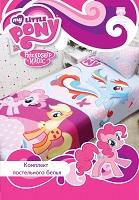 Комплект детского постельного белья Хасбро My Little Pony - Моя маленькая Пони,  полутороспальный, 100% хлопок, бязь, постельное белье для девочки