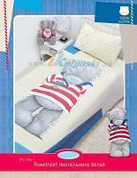 Комплект детского постельного белья Хасбро Me to You Мишка Матрос, полутороспальный, 100% хлопок, бязь
