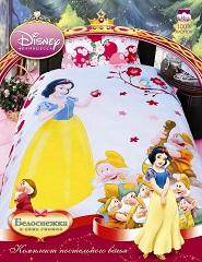Комплект детского постельного белья Белоснежка,  размер полуторный, Дисней.  КПБ Белоснежка Disney