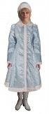 Новогодний профессиональный костюм Снегурочки, шуба и шапка, размер L-XL, 48-52, артикул Е3403, фирма Snowmen