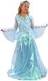 детский карнавальный костюм принцессы дэлюкс, костюм Фрозен Эльзы, костюм Frozen Elsa, нежно-голубое бальное платье, размеры на 4-6 лет, артикул Е93154,  фирма Snowmen