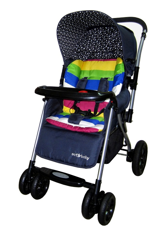 Купить коляску прогулочную, Коляска прогулочная с перекидной ручкой, купить детскую прогулочную коляску, детские прогулочные коляски, прогулочная коляска зимой, большая прогулочная коляска, коляска Ecobaby Bamia, коляска Экобейби Бамия, прогулочная к