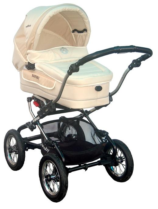 Детская коляска для новорожденных Ecobaby Safari - Экобейби Сафари, 2 в 1, коляска для