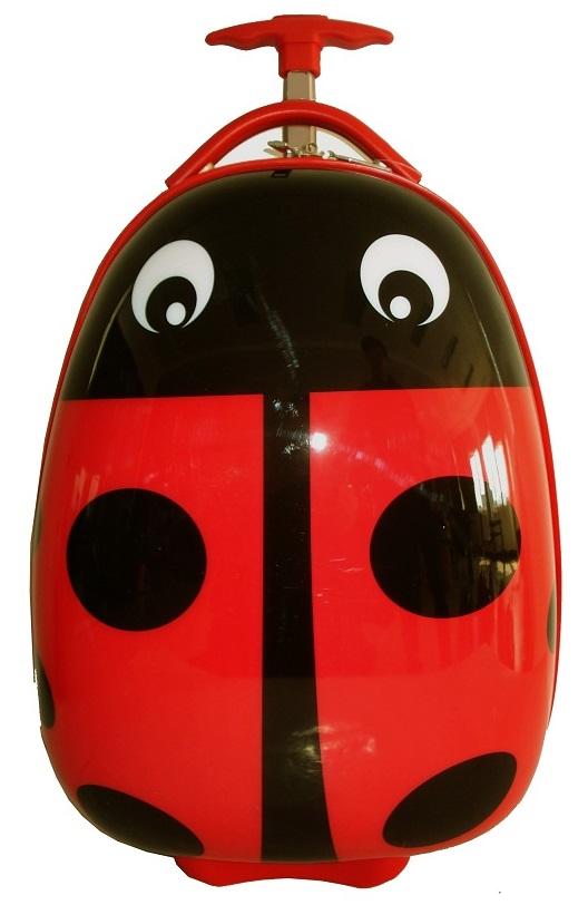 Детский чемодан на колесах, детский чемодан eggie Божья Коровка GB13