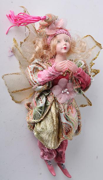 Куколки  из ткани на елку