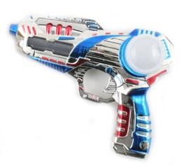 Космический бластер, оружие игрушечное, размер 20 см, пистолет свет, звук, 266 А, артикул К27977, Snowmen. Батарейки подарим.