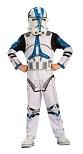 Карнавальный костюм КЛОН ТРУПЕР из фильма Звездные войны, размер L, на возраст 7-8 лет, рост 128 см, артикул Н89127, Rubies, Шампания, костюм клона, купить костюм клона, костюм клона из звездных войн, костюмы клонов из звездных войн, костюм клона куп