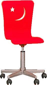 Стул детский рабочий Happy Chair, стул на колесиках, сидение МДФ, цвет сидения красный, основание сталь, цвет хром. Размер сидения 45х45 см.  Красивый и практичный детский компьютерный стул. Удобный стул для школьника, чтоб комфортно было делать уроки за письменным столом