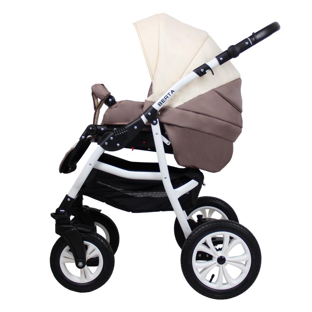 Детская коляска для новорожденных 3 в 1 на поворотных колесах, модульная коляска с автокреслом-переноской Alis Berta, Алис Берта. Прогулочный блок полночтью раскладывается в лежачее положение, удобен в эксплуатации от 6 месяцев до 3-х лет